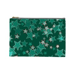 Star Seamless Tile Background Abstract Cosmetic Bag (large)