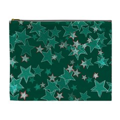 Star Seamless Tile Background Abstract Cosmetic Bag (xl)