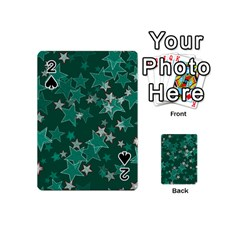Star Seamless Tile Background Abstract Playing Cards 54 (mini)