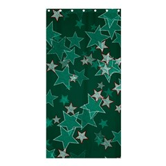 Star Seamless Tile Background Abstract Shower Curtain 36  X 72  (stall)