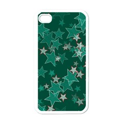 Star Seamless Tile Background Abstract Apple Iphone 4 Case (white)