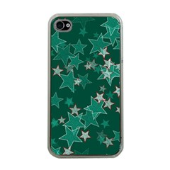 Star Seamless Tile Background Abstract Apple Iphone 4 Case (clear)
