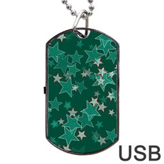 Star Seamless Tile Background Abstract Dog Tag Usb Flash (two Sides)