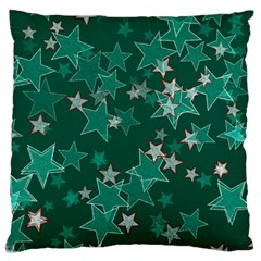 Star Seamless Tile Background Abstract Large Cushion Case (one Side)