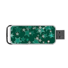 Star Seamless Tile Background Abstract Portable Usb Flash (one Side)