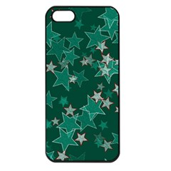 Star Seamless Tile Background Abstract Apple Iphone 5 Seamless Case (black)