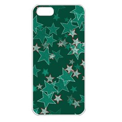Star Seamless Tile Background Abstract Apple Iphone 5 Seamless Case (white)