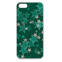 Star Seamless Tile Background Abstract Apple Seamless Iphone 5 Case (clear)