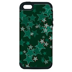 Star Seamless Tile Background Abstract Apple Iphone 5 Hardshell Case (pc+silicone)