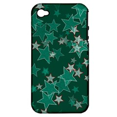 Star Seamless Tile Background Abstract Apple Iphone 4/4s Hardshell Case (pc+silicone)