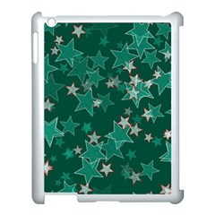 Star Seamless Tile Background Abstract Apple Ipad 3/4 Case (white)
