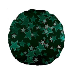 Star Seamless Tile Background Abstract Standard 15  Premium Round Cushions