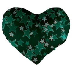 Star Seamless Tile Background Abstract Large 19  Premium Heart Shape Cushions