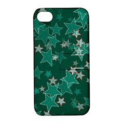 Star Seamless Tile Background Abstract Apple iPhone 4/4S Hardshell Case with Stand