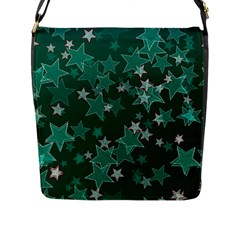 Star Seamless Tile Background Abstract Flap Messenger Bag (l)
