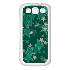 Star Seamless Tile Background Abstract Samsung Galaxy S3 Back Case (white)