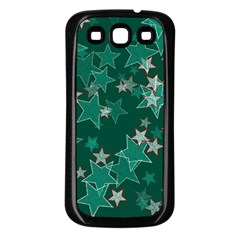 Star Seamless Tile Background Abstract Samsung Galaxy S3 Back Case (black)