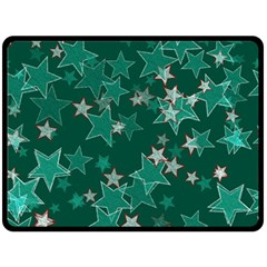 Star Seamless Tile Background Abstract Double Sided Fleece Blanket (large)