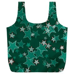 Star Seamless Tile Background Abstract Full Print Recycle Bags (l)