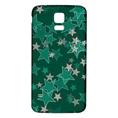 Star Seamless Tile Background Abstract Samsung Galaxy S5 Back Case (white)