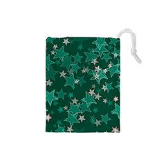 Star Seamless Tile Background Abstract Drawstring Pouches (small)
