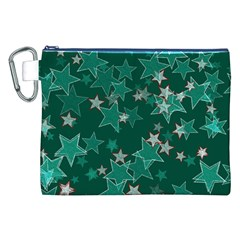 Star Seamless Tile Background Abstract Canvas Cosmetic Bag (XXL)
