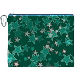 Star Seamless Tile Background Abstract Canvas Cosmetic Bag (xxxl)