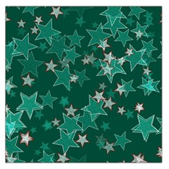Star Seamless Tile Background Abstract Large Satin Scarf (square)