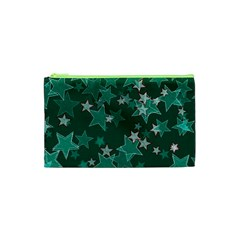 Star Seamless Tile Background Abstract Cosmetic Bag (XS)