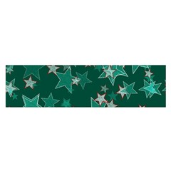 Star Seamless Tile Background Abstract Satin Scarf (oblong)