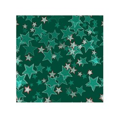 Star Seamless Tile Background Abstract Small Satin Scarf (Square)