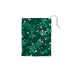 Star Seamless Tile Background Abstract Drawstring Pouches (XS)