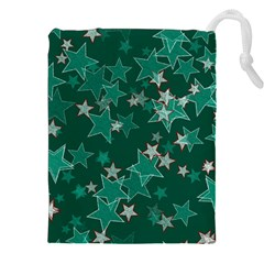 Star Seamless Tile Background Abstract Drawstring Pouches (XXL)