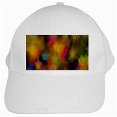 Star Background Texture Pattern White Cap