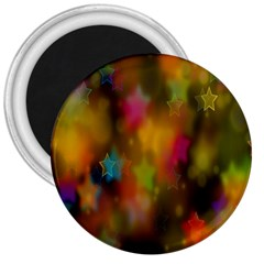 Star Background Texture Pattern 3  Magnets