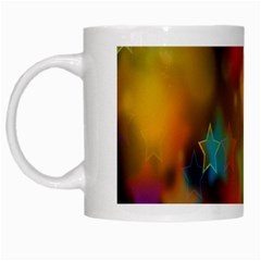 Star Background Texture Pattern White Mugs