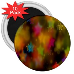 Star Background Texture Pattern 3  Magnets (10 Pack)