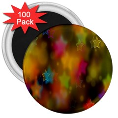 Star Background Texture Pattern 3  Magnets (100 Pack)