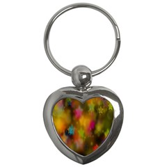 Star Background Texture Pattern Key Chains (heart)