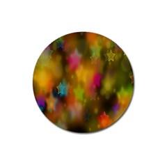 Star Background Texture Pattern Magnet 3  (Round)