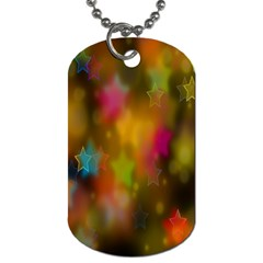Star Background Texture Pattern Dog Tag (two Sides)