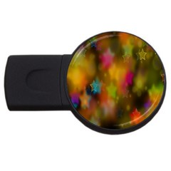 Star Background Texture Pattern Usb Flash Drive Round (2 Gb)