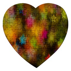 Star Background Texture Pattern Jigsaw Puzzle (heart)