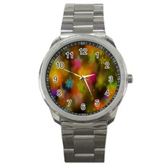 Star Background Texture Pattern Sport Metal Watch