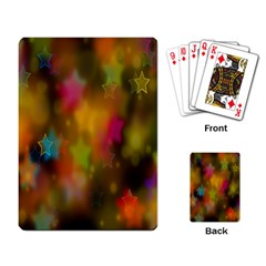 Star Background Texture Pattern Playing Card