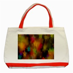 Star Background Texture Pattern Classic Tote Bag (red)
