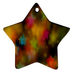 Star Background Texture Pattern Star Ornament (two Sides)