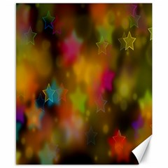 Star Background Texture Pattern Canvas 8  X 10