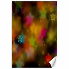 Star Background Texture Pattern Canvas 12  X 18