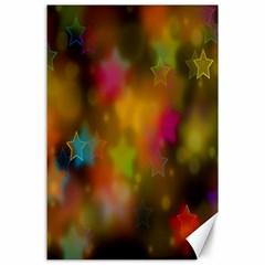 Star Background Texture Pattern Canvas 24  X 36
